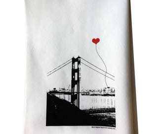 San Francisco Golden Gate Bridge Tea Towel Misprint On Sale
