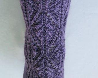 Knit Sock Pattern:  Kama Cable Lace Sock Knitting Pattern