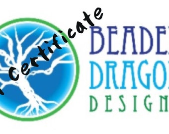 Gift Certificate for Beaded Dragon Designs