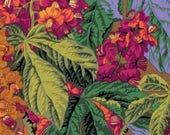 Kaffe Fassett Quilt Fabric, HORSE CHESTNUT in Brown, Philip Jacobs, Kaffe Collective, Floral, Free Spirit Fabrics, Fabric By the Yard