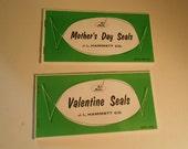 Hammett gummed seals booklets Valentine's and Mother's Day nos