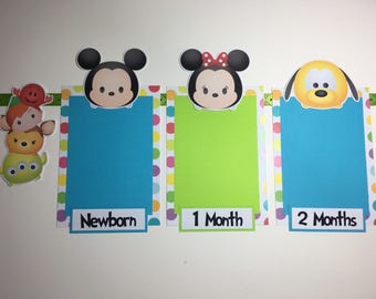 Tsum Tsum Inspired Photo Timeline Birthday Banner