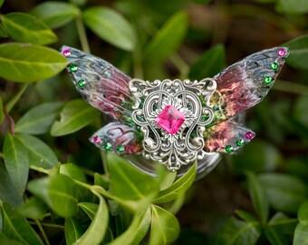 Nelkie Silver fairy wing Cuff