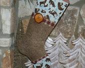 Woodland Christmas Stocking .. Hunting Christmas Stocking .. Mens Christmas Stocking .. Rustic Christmas Stocking .. Boys Christmas Stocking