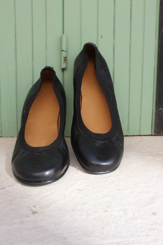 Leather shoes in black /ballet flats/ready to ship size 39-  U.S 8-8.5