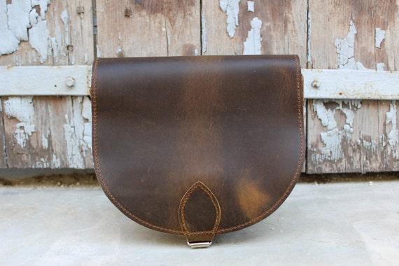 SALE! Leather Saddle Bag,sacoche cuir ,  Classic Saddle Bag  Crossbody Saddle Bag  Leather Shoulder Bag sacoche femme pochette cuir