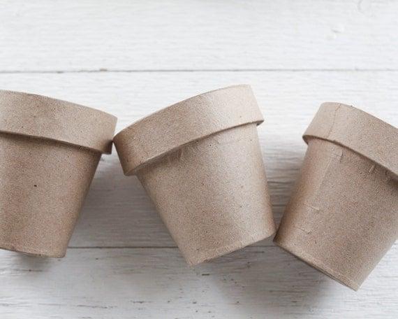 how to make paper mache plant pots