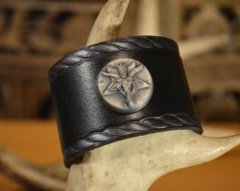 Baphomet Skull Cuff Bracelet