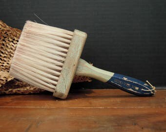 Antique / Vintage Large Wood Paint Brush / Nylon Bristles / Wooden Handle / Paint Brushes / Artist's Pain Bush / Wall Paper Brush