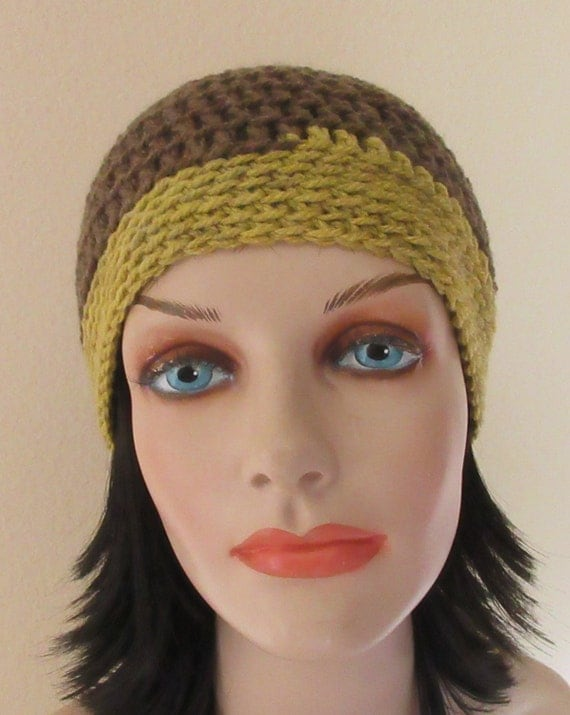 Brown Crochet Beanie, Gold Crochet Beanie, Cold Weather Hat, Unisex Beanie, Skiing, Ice Skating, Snow Playing, Wool Hat, Hockey Rink Hat