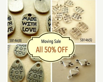 Moving 50off Sale - Collection Wholesale Buys Mix Charms Pendant Drop/Connector C-361
