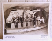 Vintage Ted Herbert Orchestra Photo - Black & White - Signed by Ted Herbert - Manchester, New Hampshire - 1940s