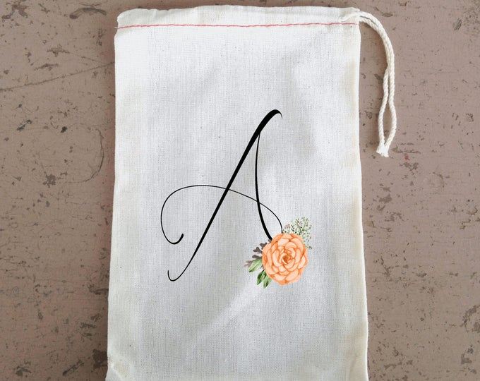 Bridesmaid gift bag, Bachelorette Party,  Hangover Kit, Drawstring Favor Bags, Personalized