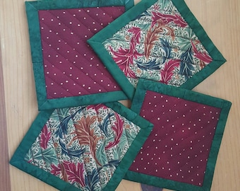 Quilted Coaster Set - Holiday Theme