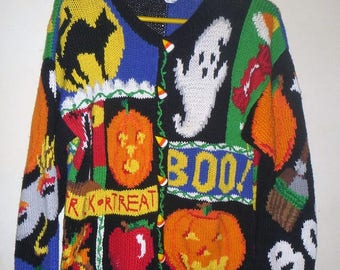 HALLOWEEN Novelty cardigan sweater size medium