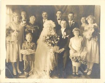 Vintage Wedding Photograph Identified Couple