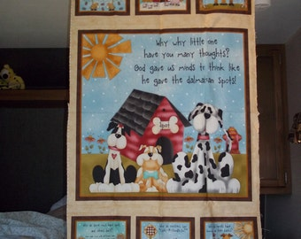 """Quilt panel, wall hanging """"Why"""" by Leanne Anderson for Henry Glass"""