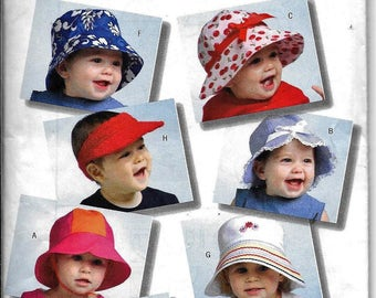 Butterick B4531 Toddler Baby Hat Sun Visor Sewing Pattern 4531 UNCUT