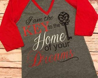 Raglan Baseball Shirt- Baseball Shirt- Custom Real estate Shirt- Home of your Dreams Shirt- Realtor shirt- Real estate Shirt-