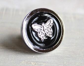 black butterfly drawer pull, decorative drawer pull, cabinet knob, childrens room, dresser knob, dresser pull, drawer knob, kids decor