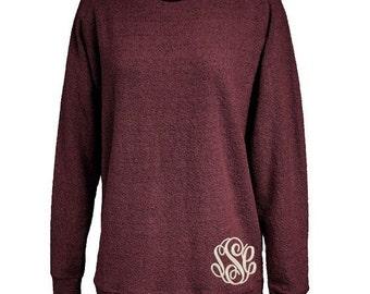 Monogrammed Poodle Fleece pullover