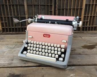 Vintage Pink Royal Typewriter