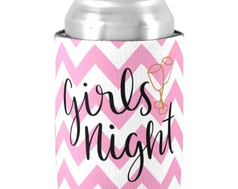 Personalized Can Coolers - Girls Night Out Bunco Party Favors, Bachelorette Parties - Monogrammed Beer Can Coolers