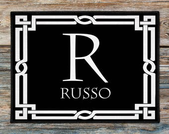 Personalized Doormat, Welcome Mat, Monogrammed Doormat, Housewares Outdoor Rug, Hostess Gift Ideas, New Couple Gift, Realtor Closing Gift