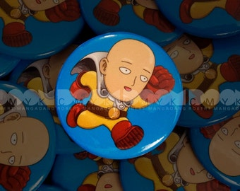 """One Punch  1.5"""" Button Pin FREE Shipping"""