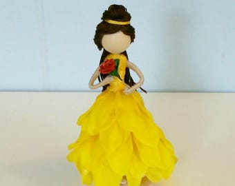 Belle Inspired Flower Fairy Doll