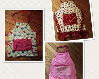 Boys and Girls Aprons ( Design your own)