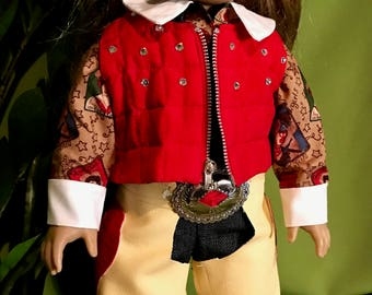 Cow Girl Outfit w/ Chaps American Girl Doll or 18 Inch Doll Cowgirl Chaps