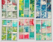 ATC backgrounds bundle 1 2x5 x 3.5 inch altered trading card printable paper digital collage sheets card making jewelry designs collage atc2