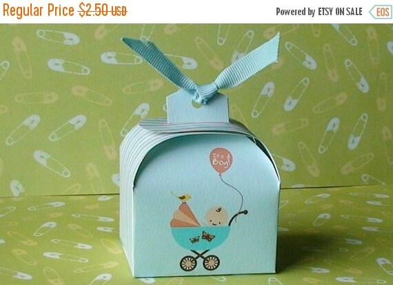 40% off Printable Baby Boy shower favor box, cupcake wrapper and topper