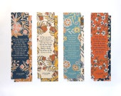 Hymn Bookmarks set of 4