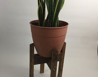 Modern Wood Plant Stand (short)