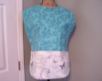 Adult Bibs - Special Needs Bib - Reversible Adult Bibs - Adult Clothing Protector - Adult Bib with Pockets - Gift for Elderly