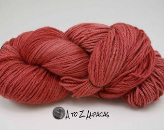 Hand Dyed Royal Baby Alpaca Yarn Bulky Weight Fruit Juice