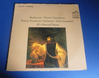 "Beethoven/""Eroica"" Symphony Boston Symphony Orchestra/ Erich Leinsdorf Vinyl Record LSC-2644 RCA Victor 1963"