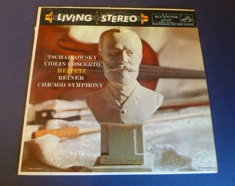 Tschaikowsky- Violin Concerto- Heifetz- Reiner Chicago Symphony Vinyl Record LSC-2129 Red Seal RCA Victor 1958 Living Stereo