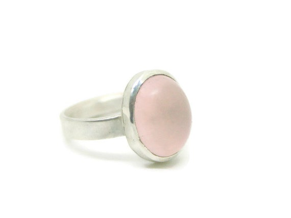 Pink Quartz Statement Ring