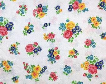 Vintage Pillow Case Floral Print Cotton Lace Polka Dot Standard Size