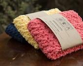 Crochet Washcloth 100% COTTON handmade washcloth cotton washcloth, wash cloth, stocking stuffer hostess gift bath and body Christmas Gifts