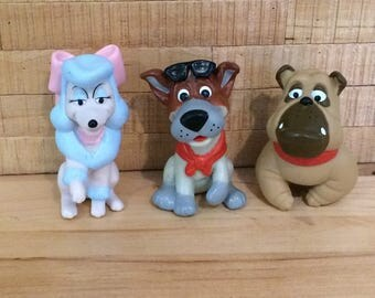 Vintage Toy Dodger,  Francis, Georgette Finger Puppets from Oliver and Company Happy Meal