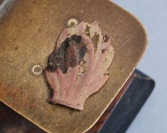 Antique brass part, plate, primitive finding