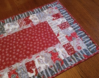 Christmas Holiday Quilted Table Topper