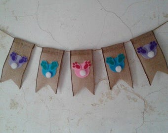 Bunny Bum Banner / Cotton Tails / Pastel Bunny Bums / Easter Banner / Easter Decoration.
