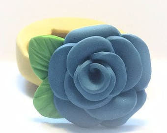 Blooming rose flexible silicone mold