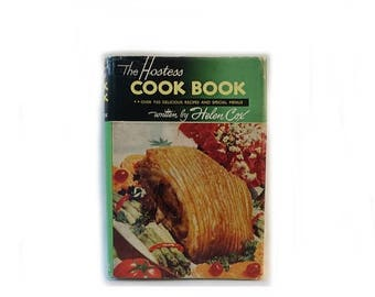 ON SALE Vintage 1950s/1960s The Hostess Cookbook by New Zealand Helen Cox
