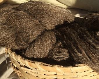 Handspun 100% Finn wool yarn.  Handmade and handprocessed